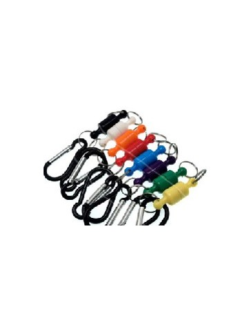 Magnetic clip with carabiner