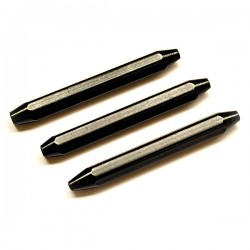 Set uzlovačů černý 3 kusy